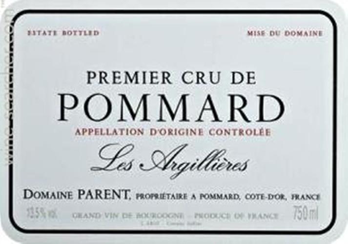巴航阿吉烈园干红Domaine Parent Les Argillieres