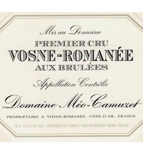 凯慕思奥克斯布鲁勒索一级园干红Domaine Meo-Camuzet Vosne-Romanee Aux Brulees Premier Cru