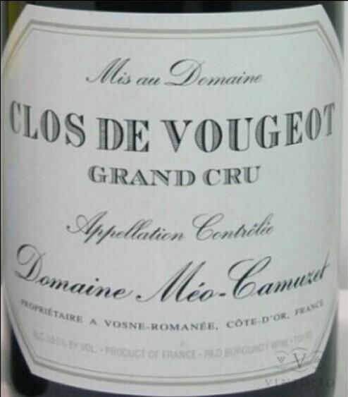 凯慕思梧玖列级园干红Domaine Meo-Camuzet Clos de Vougeot Grand Cru
