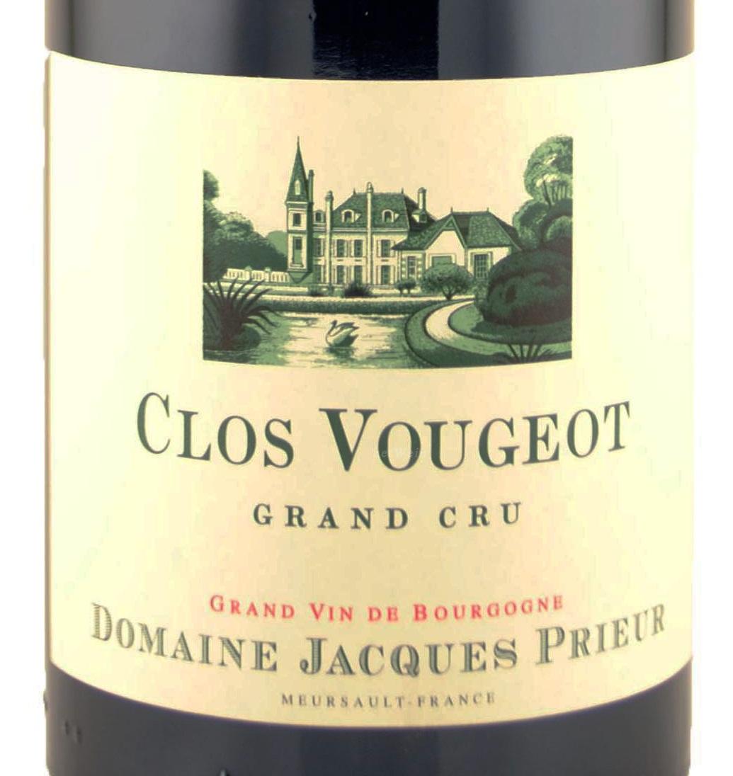 雅克普利尔特级伏旧园干红Domaine Jacques Prieur Clos de Vougeot Grand Cru