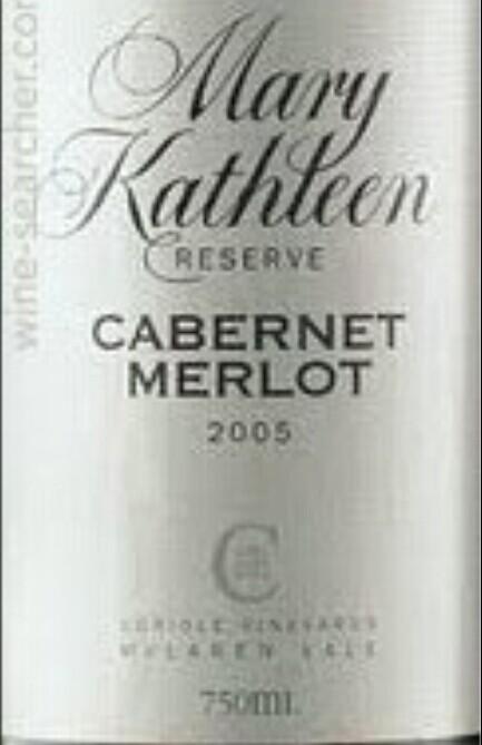 可利玛莉凯思琳珍藏赤霞珠-梅洛干红Coriole Mary Kathleen Reserve Cabernet Sauvignon - Merlot