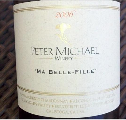 彼特麥克美女霞多麗干白Peter Michael Winery Ma Belle-Fille Chardonnay