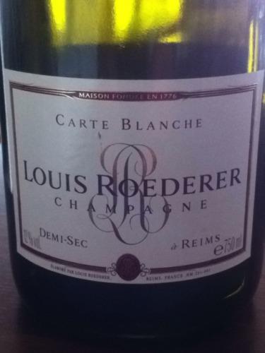 路易王妃布兰奇半干型香槟Champagne Louis Roederer Carte Blanche Demi-Sec