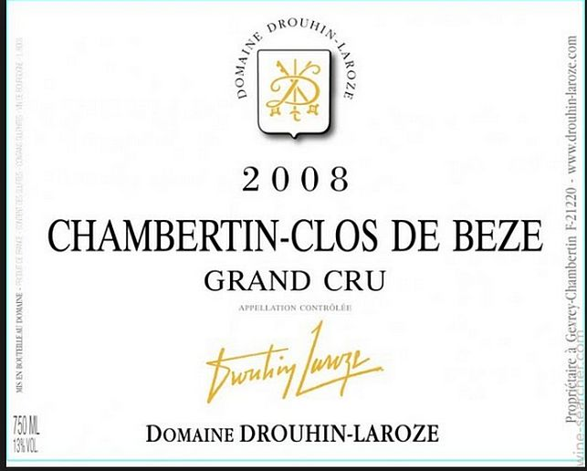 拉厚泽香贝丹-贝斯园干红Domaine Drouhin-Laroze Chambertin Clos-de-Beze