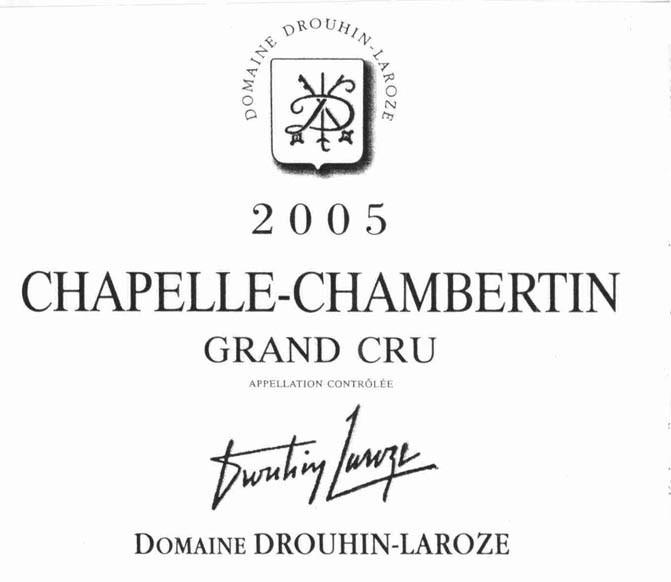 拉厚泽香贝丹教堂园干红Domaine Drouhin-Laroze Chapelle-Chambertin