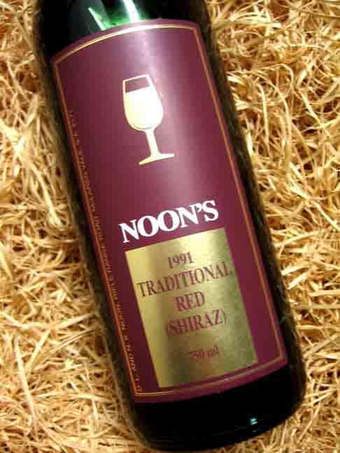 诺恩传世西拉干红Noon Winery Traditional Red Shiraz