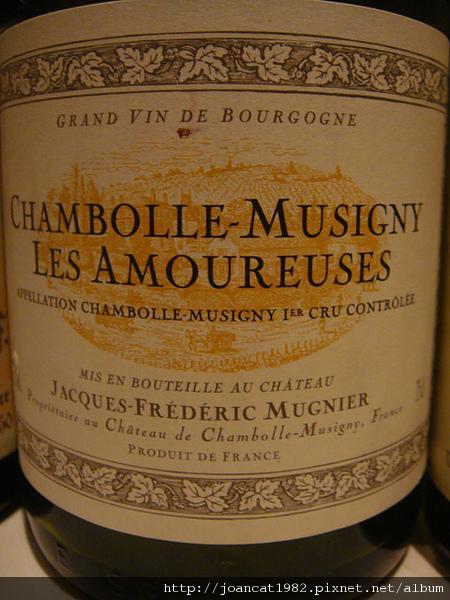 木尼艾爱侣园干红Domaine Jacques-Frederic Mugnier Les Amoureuses