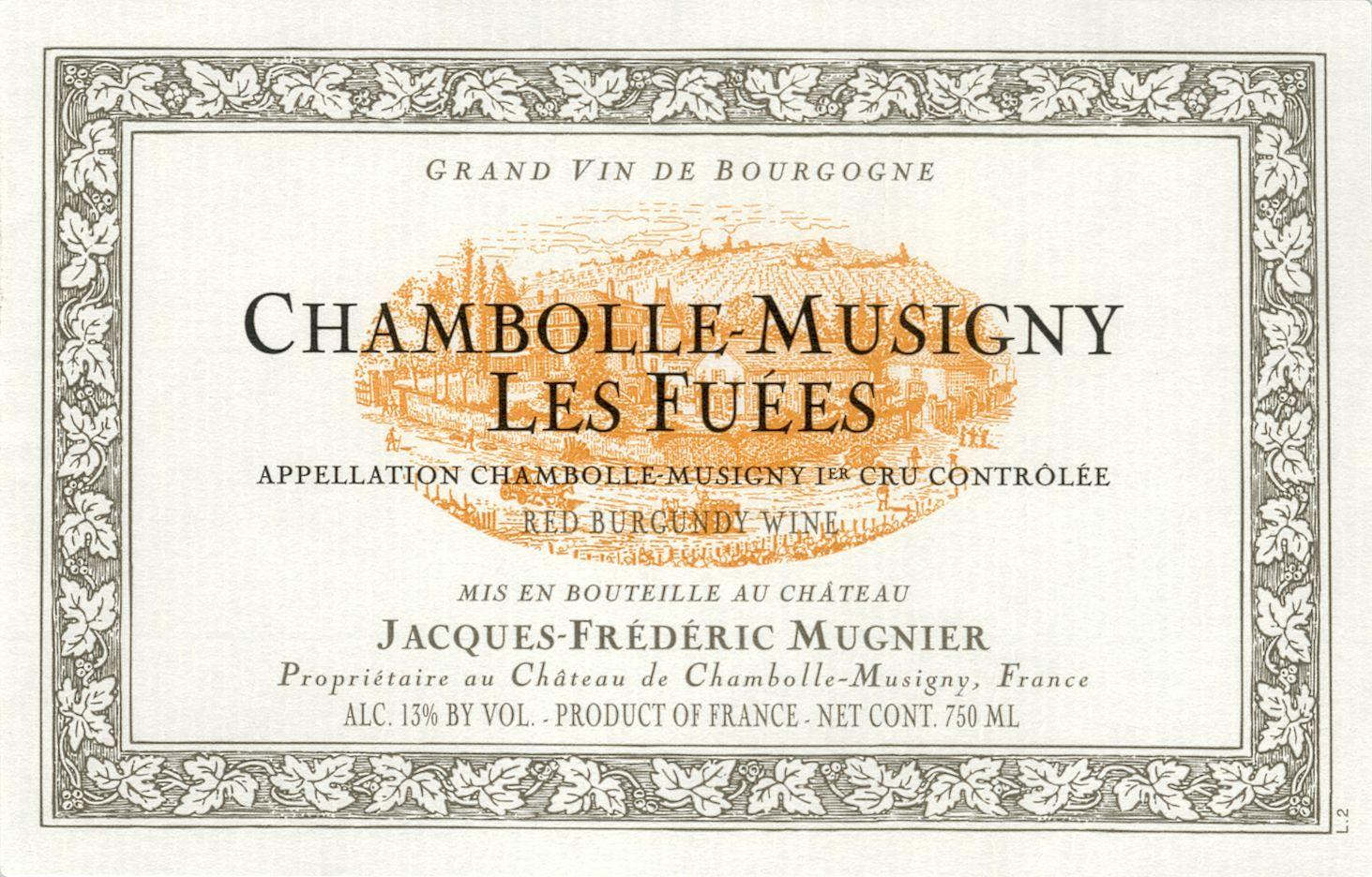 木尼艾酒庄干红(香波-慕西尼村)Domaine Jacques-Frederic Mugnier Chambolle-Musigny Les Fuees