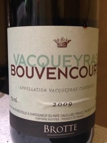布诺特瓦给拉斯邦文康特干红Brotte Vacqueyras Bouvencourt