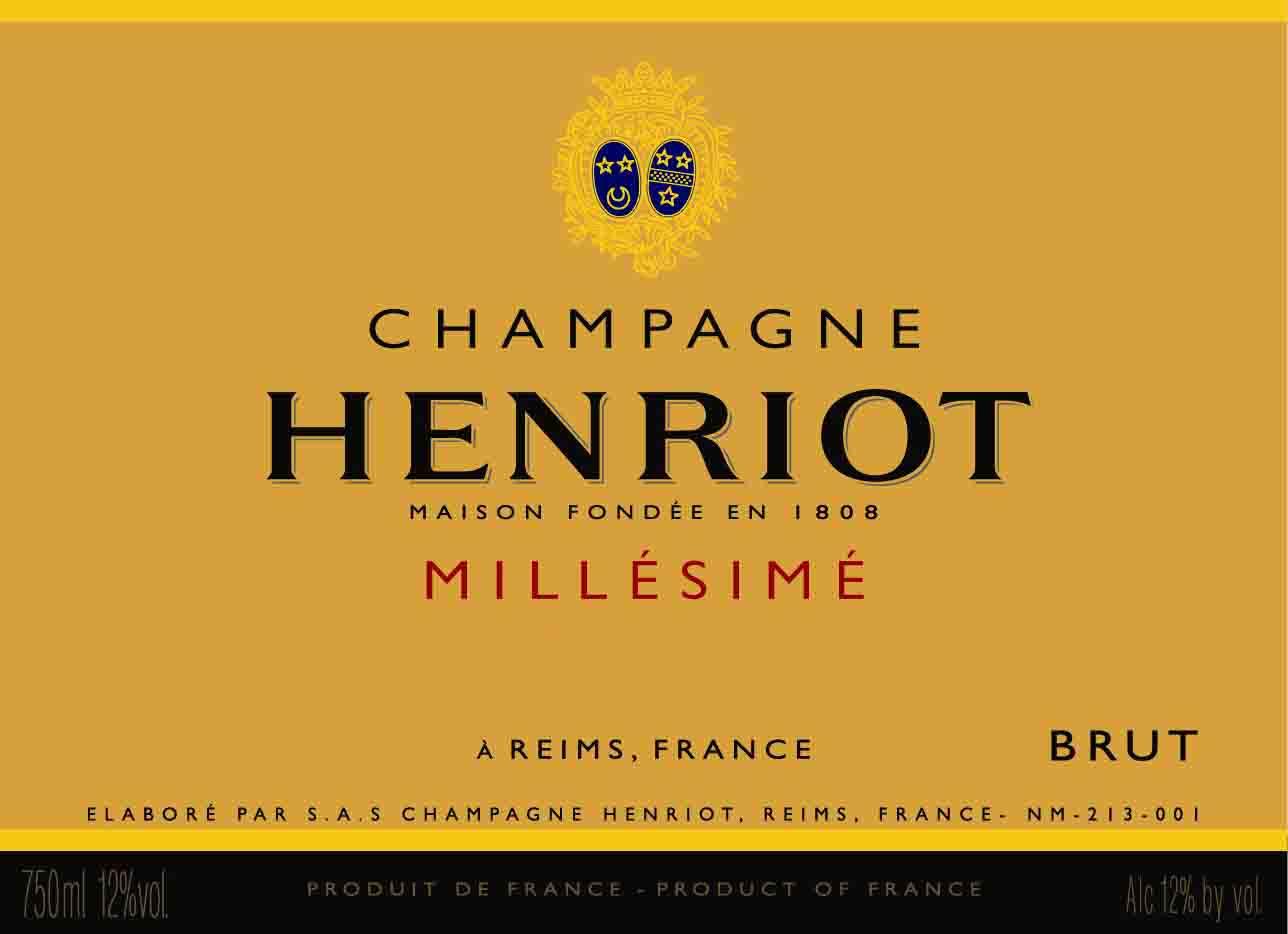 汉诺年份香槟Champagne Henriot Millesime