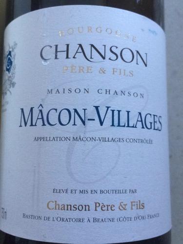 香颂马贡村干白Chanson Pere & Fils Macon Villages