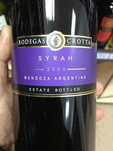 克罗塔西拉干红Bodegas Crotta Syrah