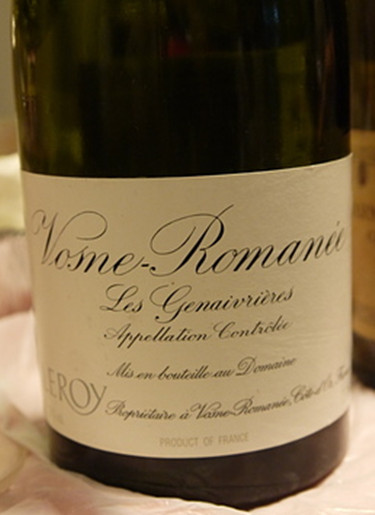 "勒桦""杰奈里尔""干红Domaine Leroy Les Genaivrieres"