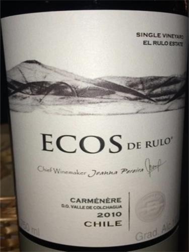 彼斯克提回声佳美娜干红Vina Bisquertt Ecos de Rulo Carmenere
