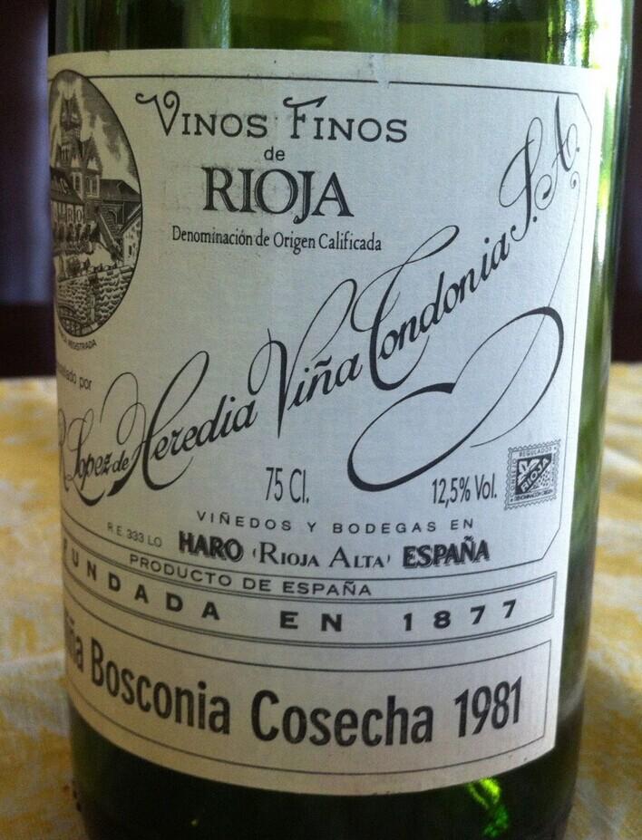 洛佩兹雷迪亚波斯科尼亚格兰干红R Lopez de Heredia Vina Bosconia  Gran