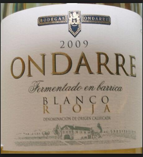 翁达柯雷酒庄里奥哈干白Bodegas Ondarre Rioja White