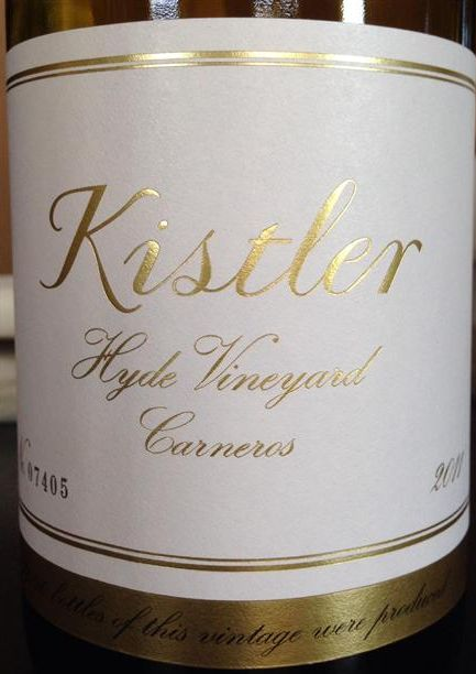 吉斯特勒海德园霞多丽干白Kistler Vineyards Hyde Vineyard Chardonnay