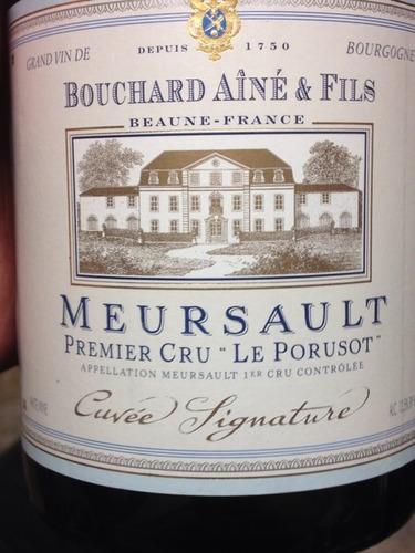 bouchard aine & fils le porusot premier cru chardonnay (meursault)