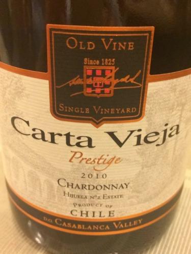 卡塔维嘉高级霞多丽干白Carta Vieja Prestige Chardonnay