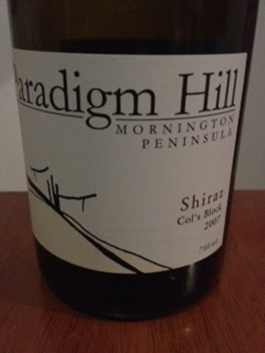 帕丁山设拉子干红Paradigm Hill Col's Block Shiraz