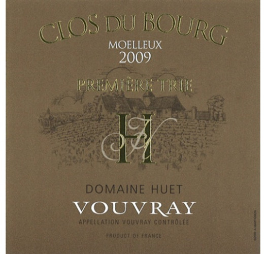 予厄古堡园一级甜白Domaine Huet Le Clos du Bourg Moelleux Premiere Trie