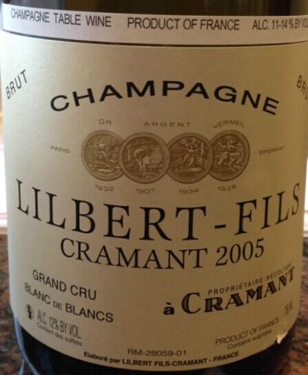 勒克莱尔特级园白中白香槟Lilbert Fils Blanc de Blancs Grand Cru Brut