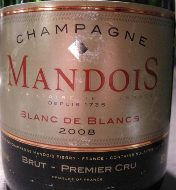 亨利曼多伊斯一级园白中白干型香槟Henri Mandois Premier Cru Blanc de Blancs