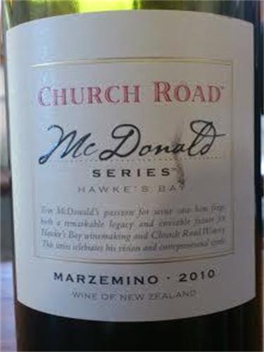 车路德麦当劳玛泽米诺干红Church Road McDonald Series Marzemino