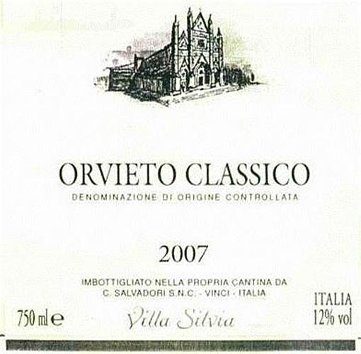 萨瓦西尔维娅园奥维托经典干白Salvadori Villa Silvia Orvieto Classico