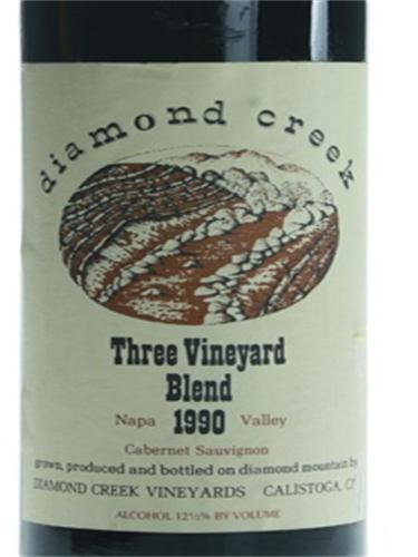 钻石溪三园赤霞珠干红Diamond Creek Three Vineyard Blend Cabernet Sauvignon
