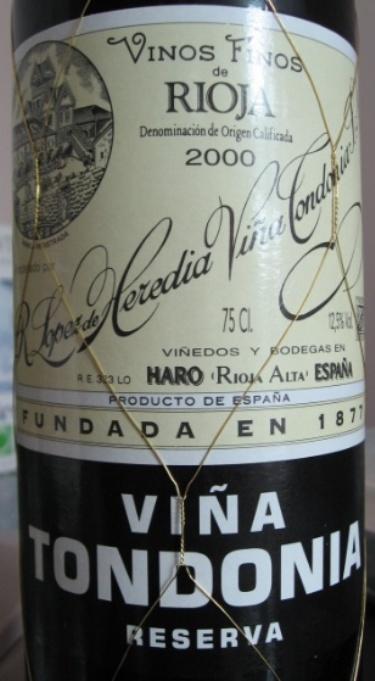 洛佩斯埃雷蒂亚酒庄唐园里奥哈珍藏干白 R Lopez de Heredia Vina Tondonia Reserva White