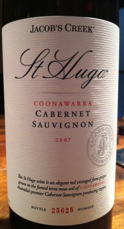 杰卡斯雨果赤霞珠干红Jacob's Creek St Hugo Cabernet Sauvignon
