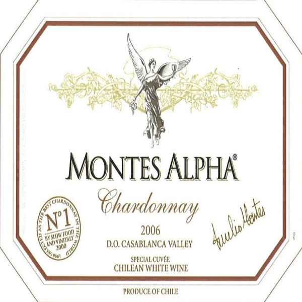 蒙特斯特酿霞多丽干白Montes Alpha Special Cuvee Chardonnay