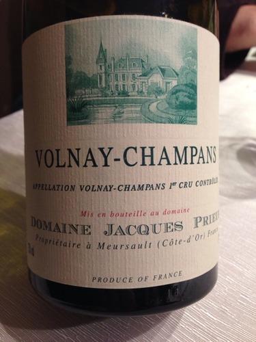 雅克普利尔沃尔奈- 昌平干红Domaine Jacques Prieur Volnay-Champans