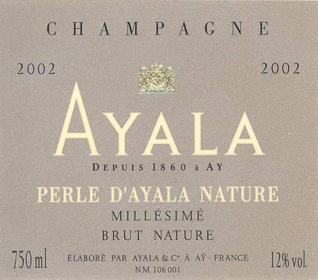 阿雅拉之珠天然香槟Champagne Ayala Perle d'Ayala Nature Millesime