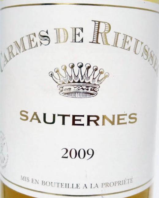 琉塞克珍宝贵腐甜白Carmes de Rieussec