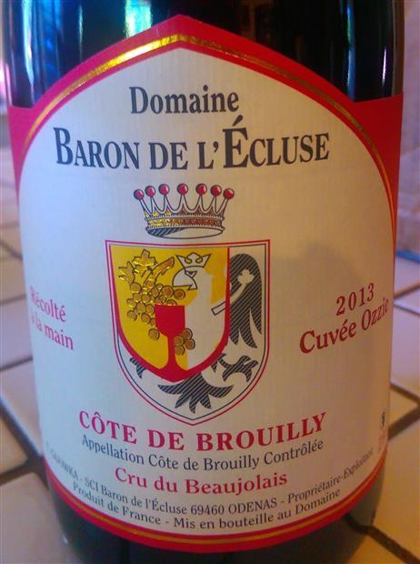 巴隆莱利酒庄干红Domaine Baron de l'Ecluse