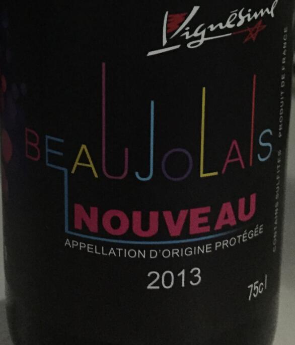 维涅星薄若莱新酒干红Vignesime Beaujolais Nouveau
