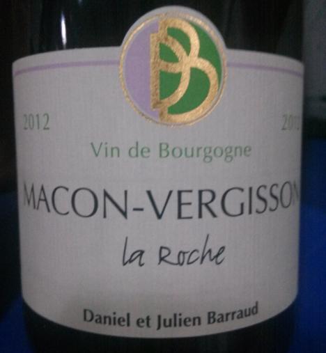 丹玛巴若酒庄马孔韦吉松产区大石园干白Daniel & Julien Barraud macon Vergisson La Roche