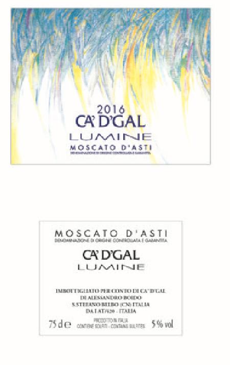 """我的哥""""喜悦""""莫斯卡托阿斯蒂低醇起泡葡萄酒AZ.AGR.CA'D' GAL MOSCATO D'ASTI LUMINE"""