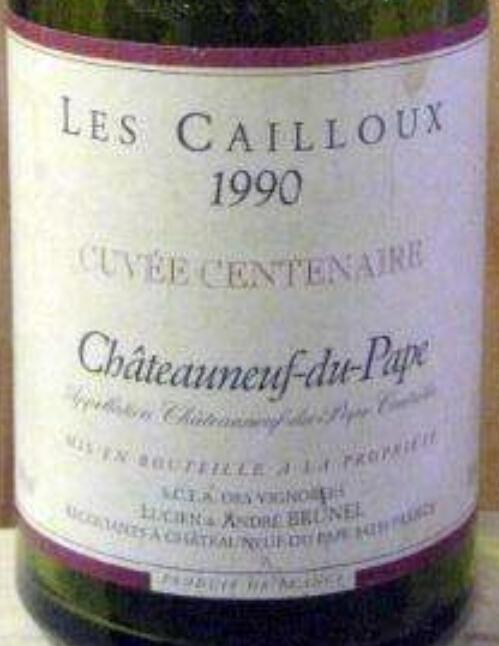 Andre Brunel Chateauneuf-du-Pape Les Cailloux Cuvee Centenaire