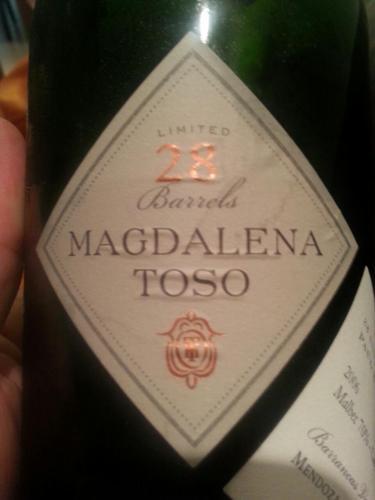 Barrancas Mendoza Magdalena Toso Limited 28 Barrels Malbec Cabernet Sauvignon