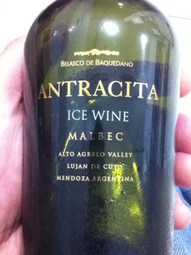 Alto Agrelo Valley Lujan De Cuyo Antracita Ice Wine Vendimia Tardia Malbec