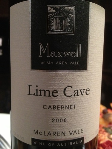 麦克斯韦石灰洞赤霞珠干红Maxwell Lime Cave Cabernet Sauvignon