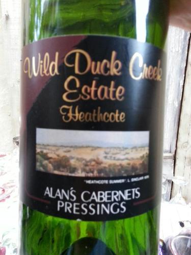 Heathcote Alans Cabernet Pressings