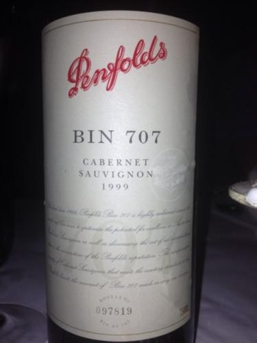奔富Bin707赤霞珠干红Penfolds Bin707 Cabernet Sauvignon