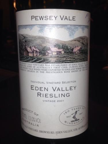 普西河谷葡萄园精选雷司令干白Pewsey Vale Riesling Eden Valley