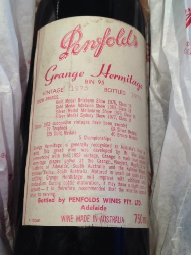 奔富葛兰许艾米塔基干红Penfolds Grange Hermitage