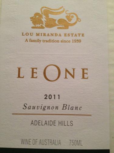 Lou Miranda Estate Leone Sauvignon Blanc