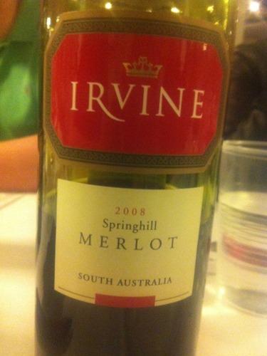 欧文酒庄春峰梅洛干红葡萄酒Irvine SPRINGHILL Merlot
